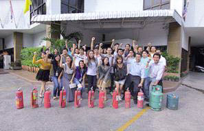 The Company provided a training course on the prevention and fighting of fire in the workplace at our AIT Head Office.