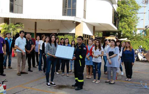 "the Company provided a comprehensive training course on ""The Prevention and Firefighting at the Workplace"""